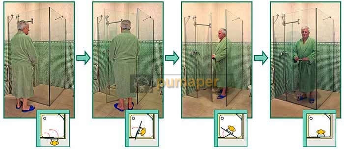 Mamparas Baño para Personas de Movilidad Reducida