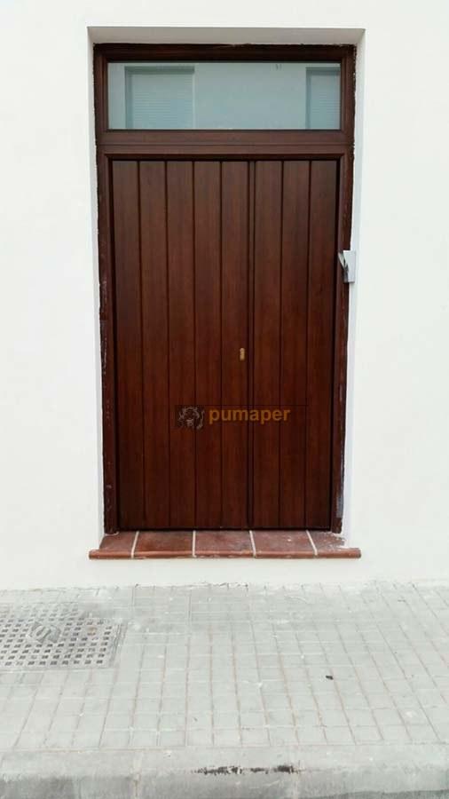 Port n de entrada de aluminio de seguridad con cerradura for Puerta xor de tres entradas