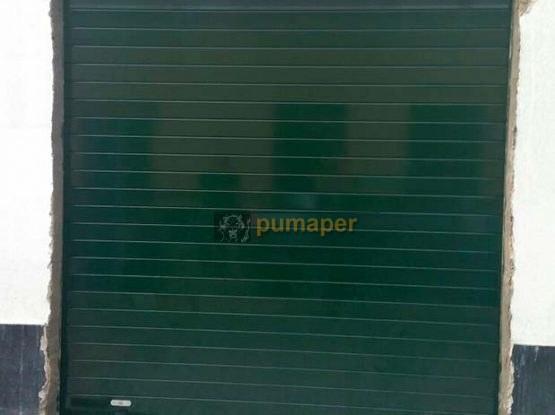 Cierre enrollable de aluminio en verde 6009